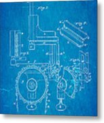 Duncan Addressing Machine Patent Art 1896 Blueprint Metal Print