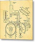 Duncan Addressing Machine Patent Art 1896 Metal Print