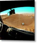 Dune Bashing In The Empty Quarter Metal Print