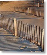 Dune Fences Early Morning Metal Print