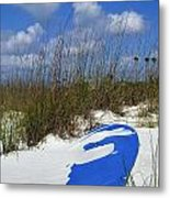Dune Grass And Boat Metal Print