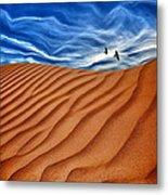 Dune Raven Sky Metal Print