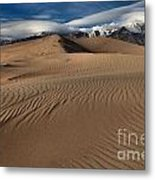 Dunes Ripples And Clouds Metal Print