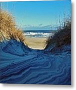 Dunes Sand Art By Mother Nature 2/08 Metal Print