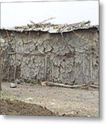 Dung Huts Of The Masai Metal Print
