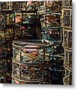 Dungeness Crab Pots Waiting On A San Francisco Dock Metal Print
