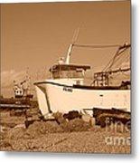 Dungeness Fishing Boats Metal Print