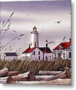 Dungeness Lighthouse Metal Print