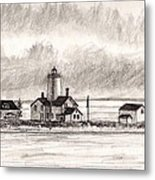 Dungeness Point Lighthouse Metal Print