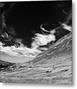 dunlewey glen valley lakes and errigal mountain Gweedore county Donegal Republic of Ireland Metal Print