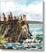 Dunluce Castle Antrim N I Metal Print