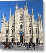 Duomo In Milano. Italy Metal Print by Antonio Scarpi