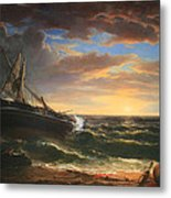 Durand's The Stranded Ship Metal Print