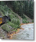 Durango To Silverton Railroad Metal Print
