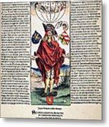 Durer: Syphilitic, 1496 Metal Print