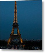 Dusk At Eiffel Tower Metal Print