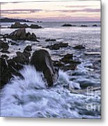Dusk At West Quoddy Head Light Metal Print