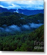 Dusk In The Smoky Mountains   Metal Print
