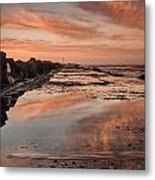 Dusk On The North Jetty Metal Print