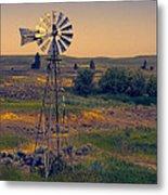 Dusk On The Prairie Metal Print