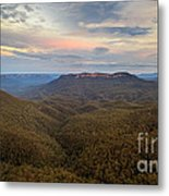 Dusk Over Mount Solitary Metal Print