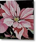 Dustie's Poinsettia Metal Print