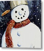 Dustie's Snowman Metal Print