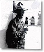 Dustin Farnum On  Set Of Light Of The Western Stars  Las Moros Ranch Southern Arizona 1918-2013  Metal Print