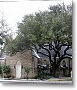 Dusting Of Snow At Church On Pennsylvania St Fort Worth Tx Metal Print