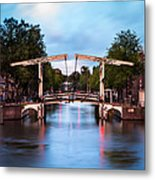 Dutch Bridge Metal Print