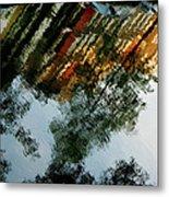 Dutch Canal Reflection Metal Print