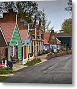 Dutch Shops On Windmill Island In Holland Michigan Metal Print