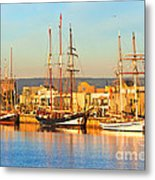 Dutch Tall Ships Docked Metal Print by Bill  Robinson