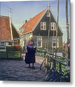 Dutch Traditional Dress Metal Print