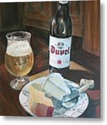 Duvel And Cheese Plate Metal Print