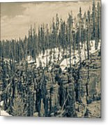 Yellowstone In The Snow Metal Print