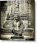 Dvarapala At Banteay Srey Metal Print