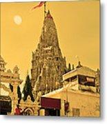 Dwarka Krishna Temple Metal Print
