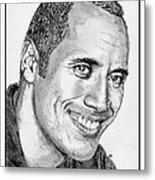 Dwayne Johnson In 2007 Metal Print by J McCombie
