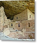 Dwellings In Spruce Tree House On Chapin Mesa In Mesa Verde National Park-colorado  Metal Print