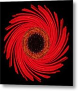 Dying Amaryllis Flower Mandala Metal Print