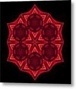Dying Amaryllis IIi Flower Mandala Metal Print