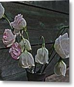 Dying Grieving Flowers Metal Print