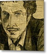 Dylan The Poet Metal Print by Debi Starr