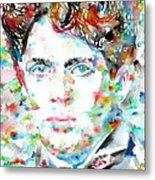 Dylan Thomas - Watercolor Portrait Metal Print