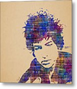 Dylan Watercolor Metal Print