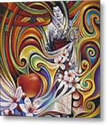 Dynamic Blossoms Metal Print