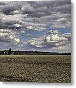 Dynamic Farmland Landscape Metal Print