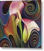 Dynamic Floral 4 Cala Lillies Metal Print