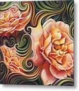 Dynamic Floral V  Roses Metal Print